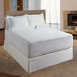 Serta® Sherpa Plush Sheet Electric Warming Mattress Pad
