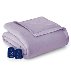 Micro Flannel Electric Heated Blanket Amethyst