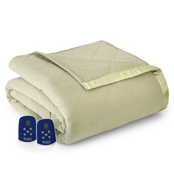Micro Flannel Electric Heated Blanket - Meadow
