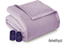 Microflannel Electric Blankets - Amethyst