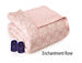 Microflannel Electric Blankets - Enchantment Rose