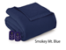 Microflannel Electric Blankets - Smokey Mountain Blue