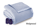 Microflannel Electric Blankets - Amethyst- Wedgewood
