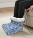 Electric Foot Warmer with Blue and White Snow Flurries Pattern Print