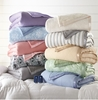 Plush Reversible Sherpa Fleece Electric Heated Blanket - Twin - 10 Colors to Choose From