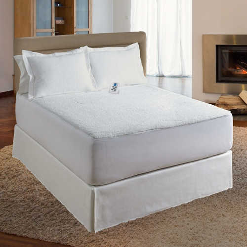Serta® Sherpa Plush Electric Warming Mattress Pad